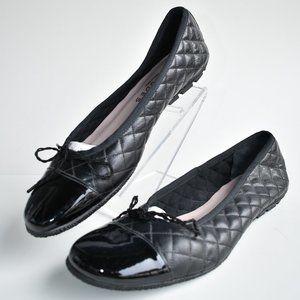 """* Black Paul Mayer """"Best"""" Leather Ballet Flats"""
